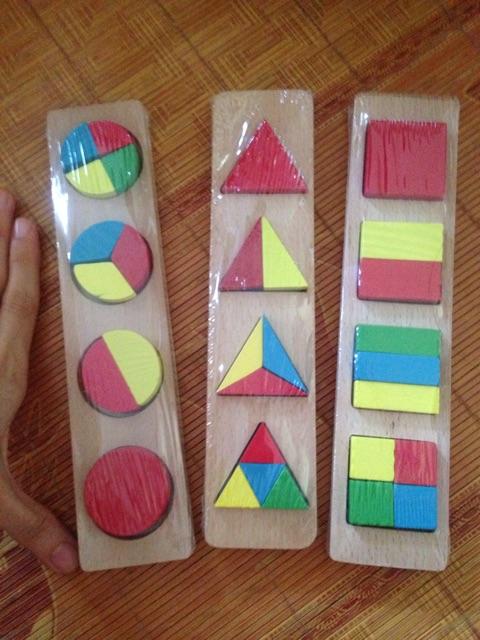 Hàng loại 1- set 7 món đồ chơi gỗ học về cảm quan cho bé (Montessori ) có bán lẻ