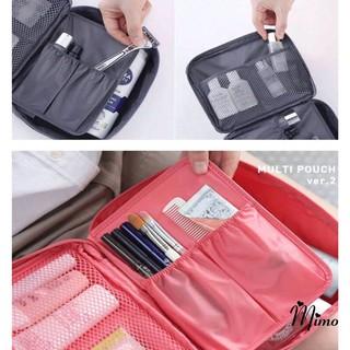 Túi đựng mỹ phẩm, đồ cá nhân du lịch, đồ trang điểm makeup mẫu mới vải dày dặn chống thấm nước tiện lợi thumbnail