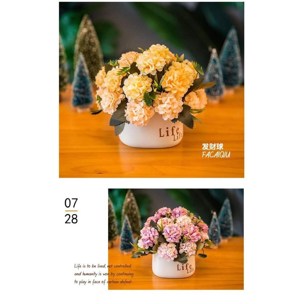 Bình hoa giả trang trí đẹp mắt Life - Hoa lụa trang trí