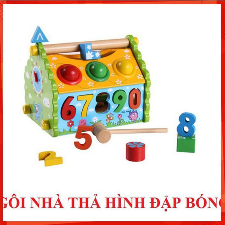 [CỰC ĐẸP] Đồ chơi đập bóng kết hợp đàn gỗ - Đồ chơi gỗ [SỈ - LẺ]