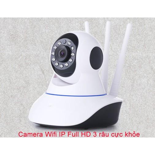 Camera wifi ip YYP2P 3 râu cực khỏe hỗ trợ thẻ nhớ đến 64G