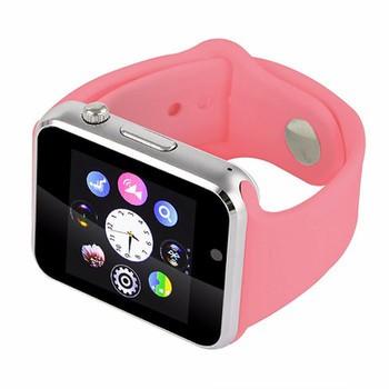 Đồng hồ đeo tay hỗ trợ sim A1 (hồng nhạt) gắn được thẻ nhớ