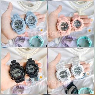 Đồng hồ nam, nữ Color unisex dây nhựa kiểu dáng năng động cho tuổi teen