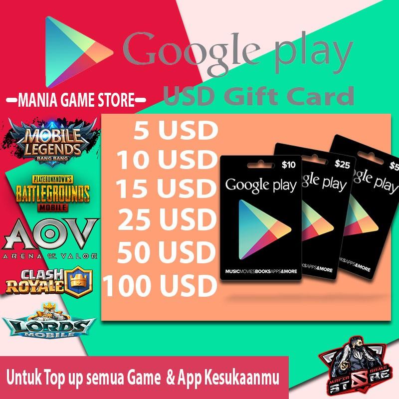 Google Play Voucher/Gaming/Google-Play IndonesiaShopy com
