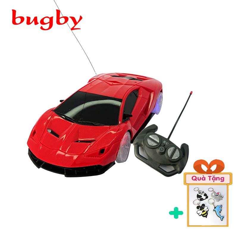 Ô tô đồ chơi trẻ em điều khiển từ xa có đèn phát sáng ở bốn bánh chạy siêu nhanh