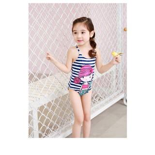 Đồ bơi bé gái 1 mảnh họa tiết tiên cá cực yêu cho bé