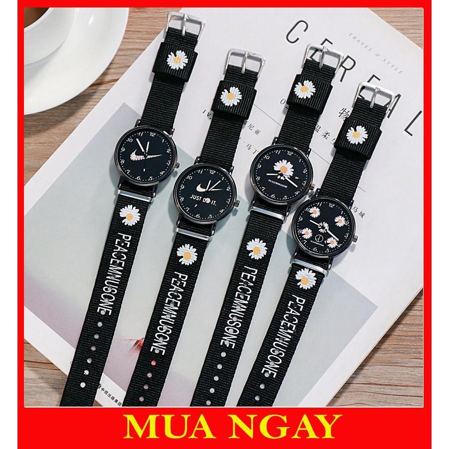Đồng hồ nam nữ đeo tay thời trang hoa cúc DH105 cực đẹp