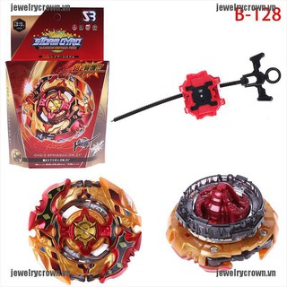 [Crown]Beyblade burst B-128 starter set with launcher grip kids gift toys [VN]