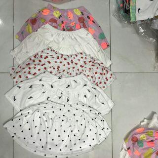 Set 5 chân váy - kèm quần vải xuất dư cotoon 100%