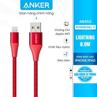 [Không túi đựng] Cáp sạc ANKER PowerLine+ II Lightning dài 0.9m - A8452H thumbnail