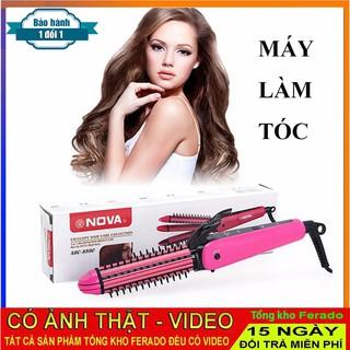Máy làm tóc 3 in 1 đa năng Lược điện Nova - dụng cụ làm tóc đa năng - dụng cụ làm đẹp - máy uốn duỗi tóc thumbnail