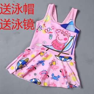 Bộ đồ bơi một mảnh kèm váy ngắn xinh xắn cho bé gái