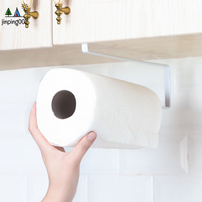 Kitchen Free Punching Storage Rack for Roll Paper Towel Preservative Film Hanging