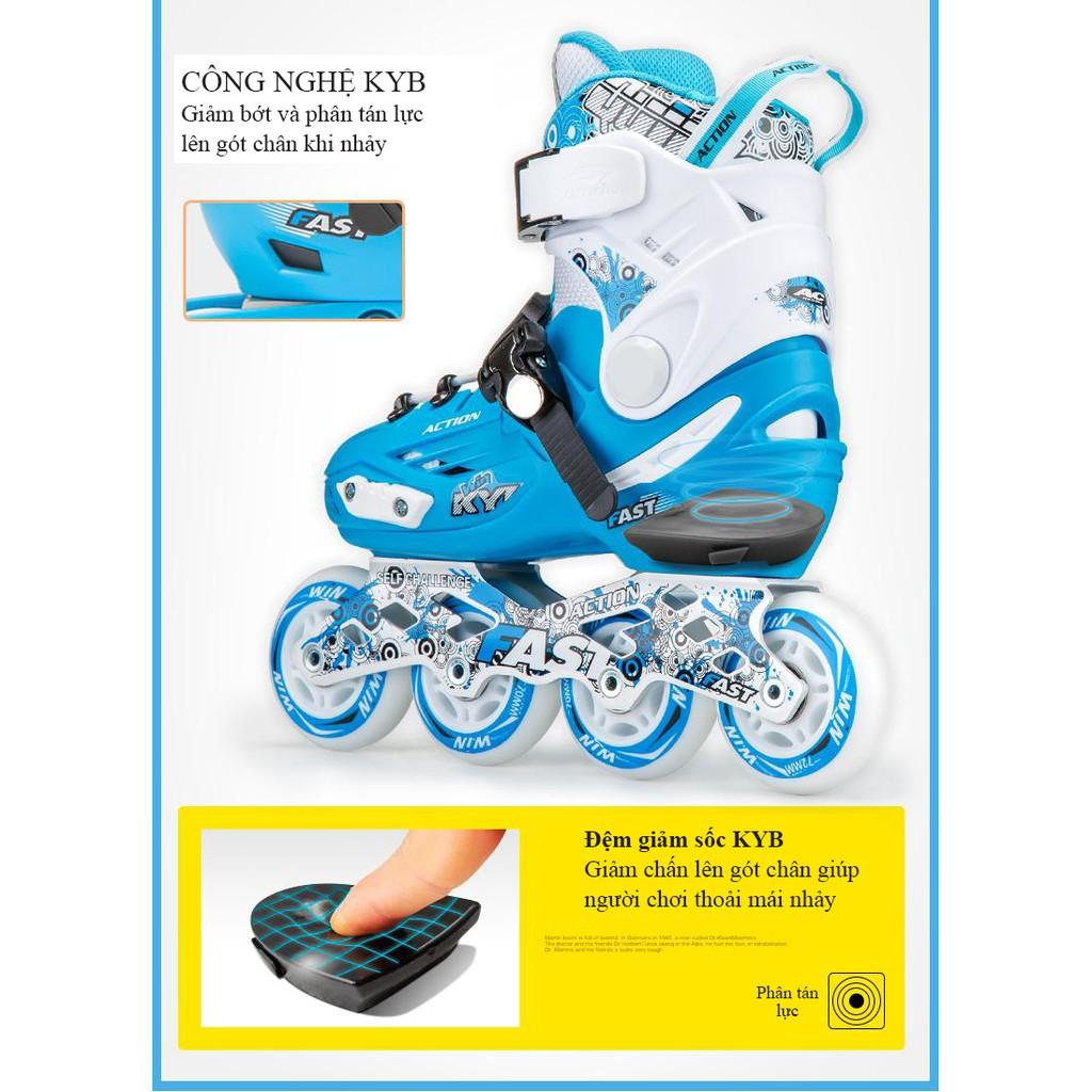 [HÀNG CHUẨN] Giày trượt patin ACTION trẻ em, giày patin thể thao, giày trượt patin CHUYÊN NGHIỆP + FULL bảo hộ toàn thân