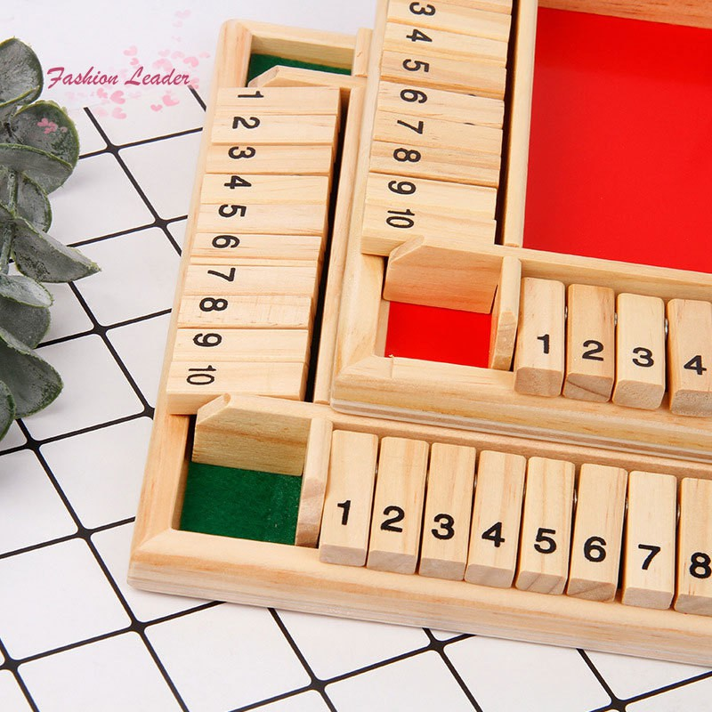 Wooden Board Game A Classic Family Math Game for Kids Family Party Gift Durable