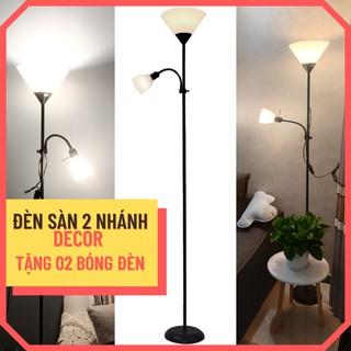 [TẶNG KÈM 02 BÓNG] Đèn cây đứng DECOR 02 nhánh trang trí phòng khách/ phòng ngủ/ cạnh sofa