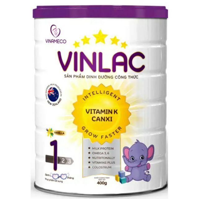 Sữa vinlac 1 lon 400g date 2023