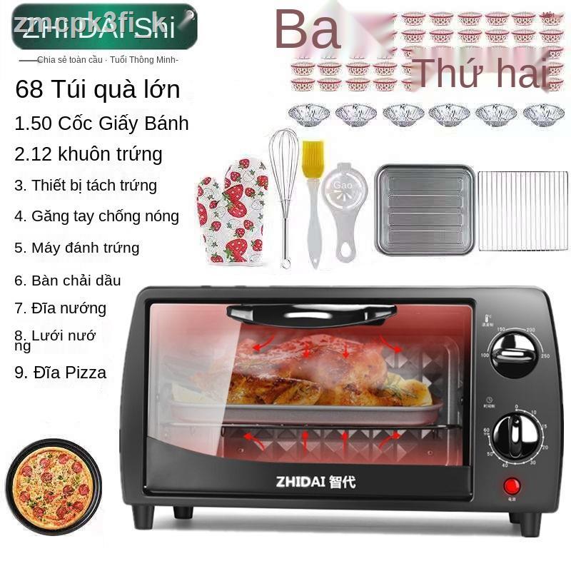 ▪₪■[bảo hành ba năm] lò nướng điện mini đa chức năng gia dụng để nướng bánh bánh mì pizza Máy nướng khoai lang cánh gà