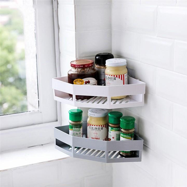 [HOt]  Kệ tam giác dán góc tường để đồ nhà tắm,nhà bếp tiện lợi