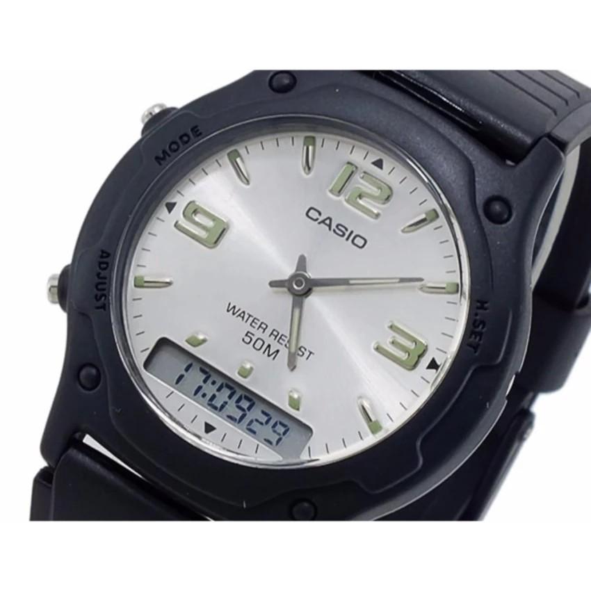 Đồng hồ nam dây nhựa Anh Khuê Casio chính hãng AW-49HE-7AVDF