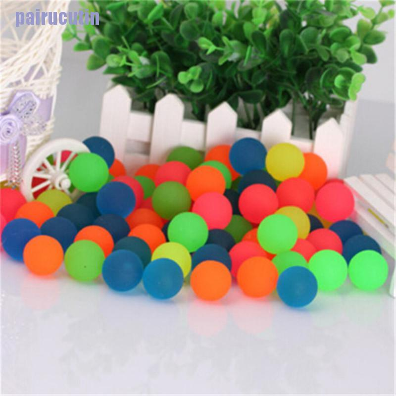 【CUT】10PCS Creative Rubber Bouncing Jumping Ball 27mm Kids Children Game Toy Gifts