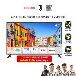 Android Smart Tivi Full HD Coocaa 43inch Wifi - Model 43S3G (Model 2020) - Miễn phí lắp đặt thumbnail