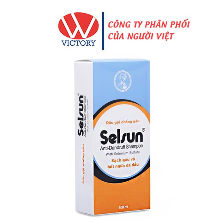Dầu gội chống gàu Selsun - Đánh bay gàu và hết ngứa da đầu - Chai 100ml -  VictoryPharmacy