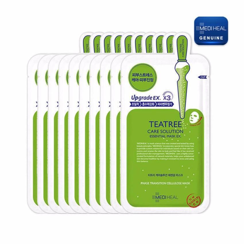 Hộp Mặt nạ dưỡng da trị mụn chiết xuất trà xanh Mediheal Teatree Healing solution Essential Mask 25m