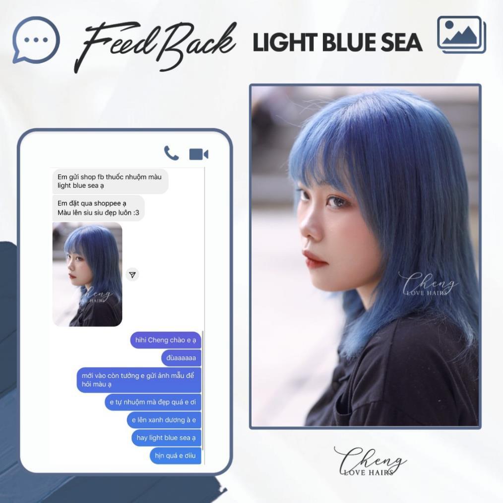 Thuốc nhuộm tóc XANH KHÓI - LIGHT BLUE SEA
