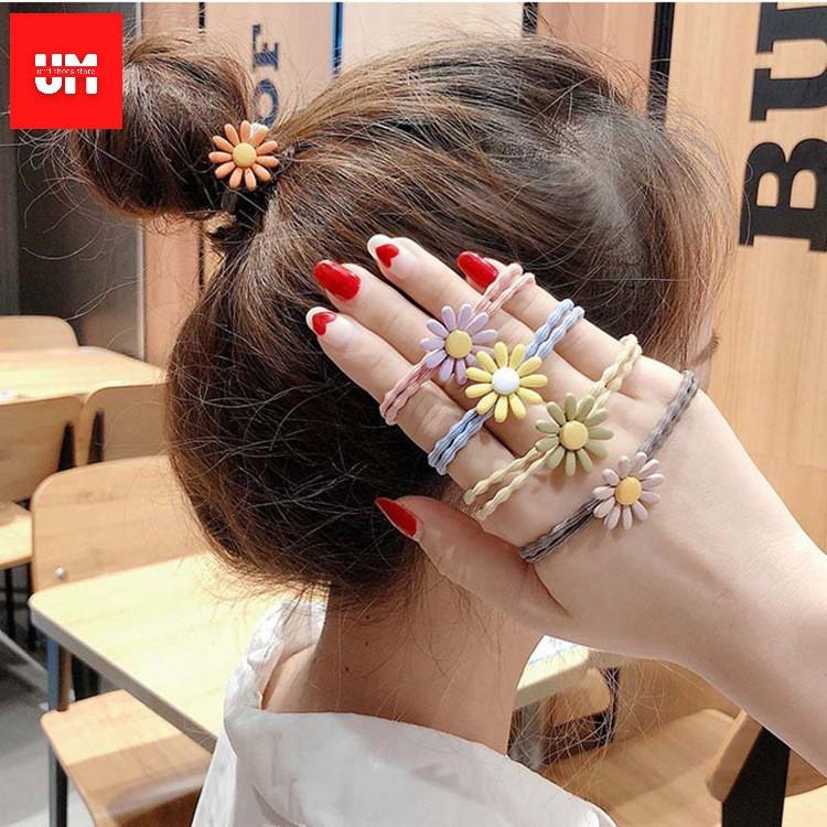 _( 1k) Dây buộc tóc hoa cúc chi nhiều màu sắc hot trend 2019 #1k