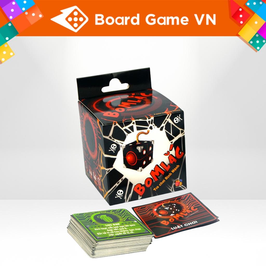 Xúc xắc xí ngầu Bom lắc - Thẻ bài Boardgame - BoardGameVN