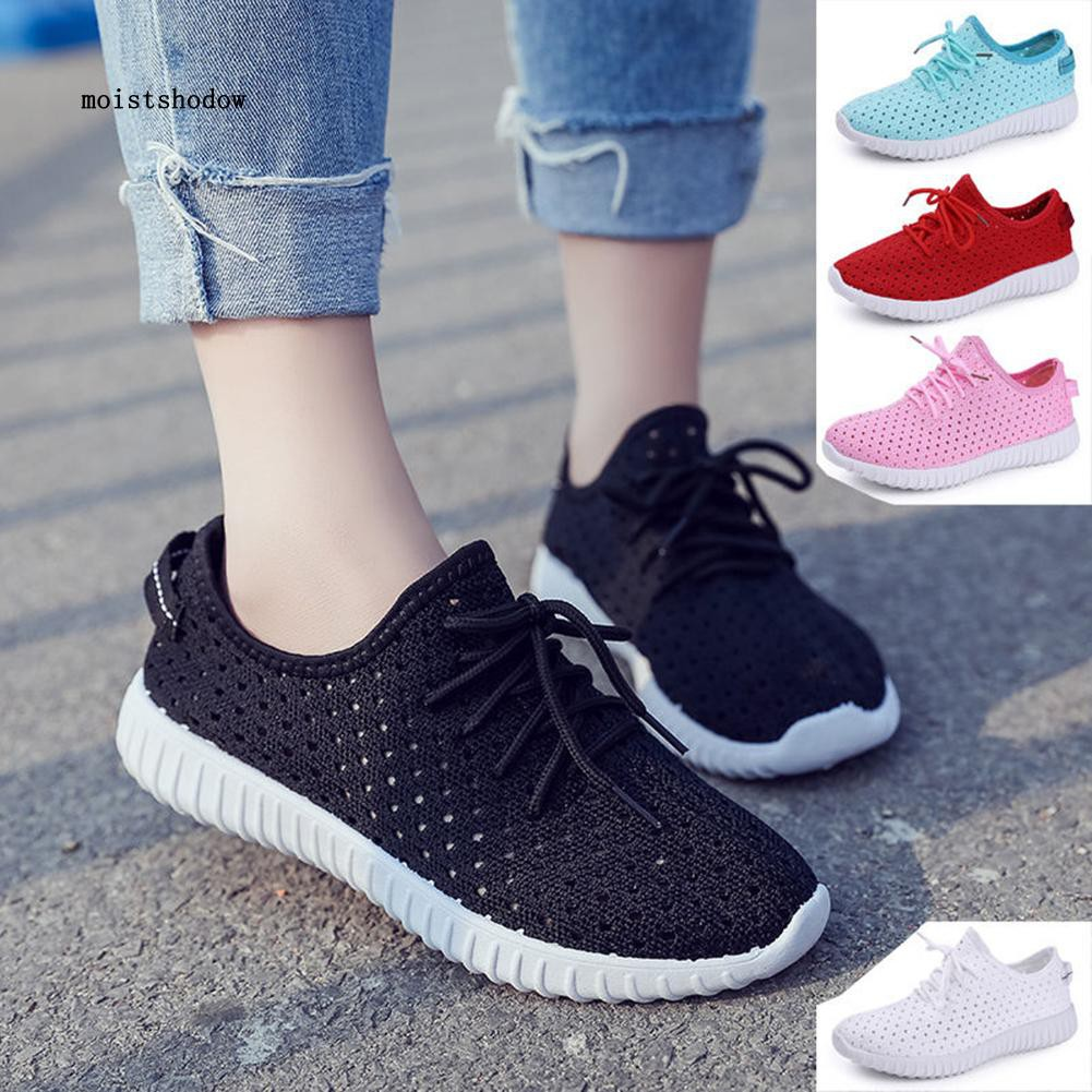MISD Women Fashion Sport Shoes Casual Flat Heel Breathable Sneakers Walking Shoes