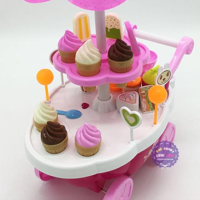 Bộ đồ chơi xe đẩy kem 39pcs có đèn nhạc cho trẻ cực hot
