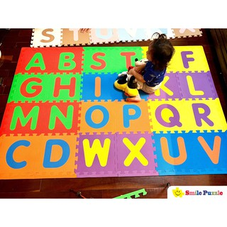 Thảm chơi cho bé – thảm chữ cái viền ngoài (26 miếng, diện tích 2.4m) Smile Puzzle KHÔNG MÙI TIÊU CHUÂN CHÂU ÂU