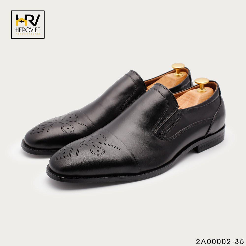 Giày lười nam tăng chiều cao da thuộc màu đen APCN 2A00002-35 Hàng chất Hàng chất giá tốt Hàng hiệu cao cấp CH23 CD32