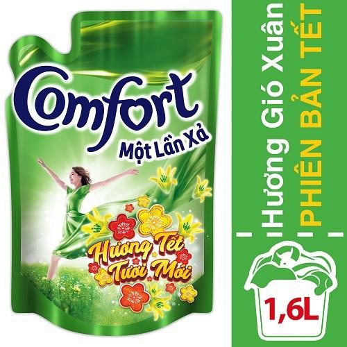 Nước xả vải Comfort 1 Lần Xả Hương Gió Xuân túi 1.6L phiên bản tết MSP67145298