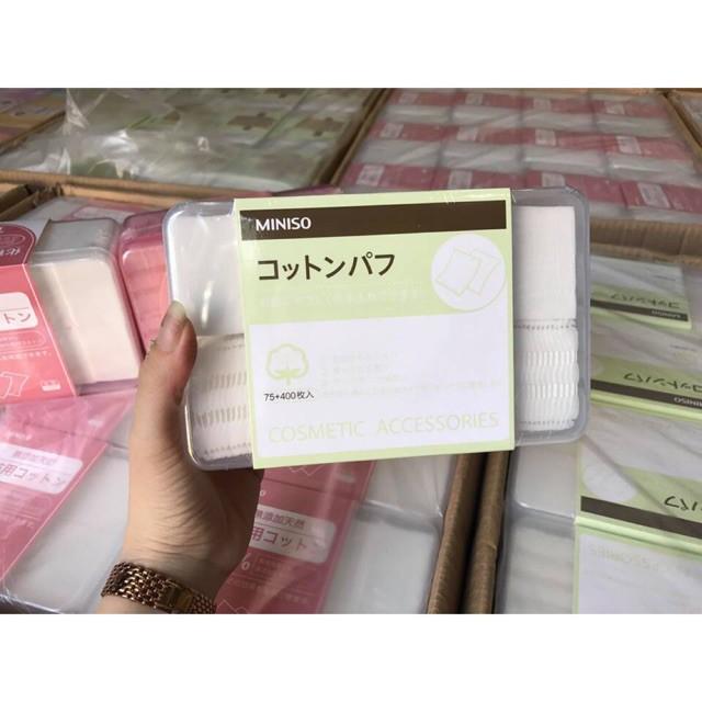 Bông tẩy trang MINISO Nhật Bản,1000 Miếng, 475 miếng, 180 miếng 3 lớp NPP Shoptodo