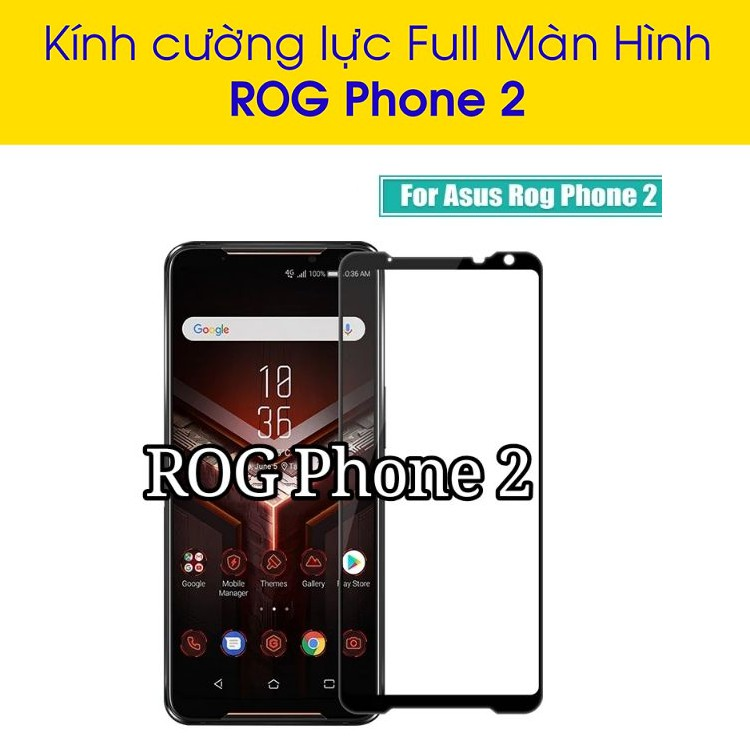 kính cường lực bảo vệ màn hình dành cho ASUS Rog Phone 2 kèm phụ kiện