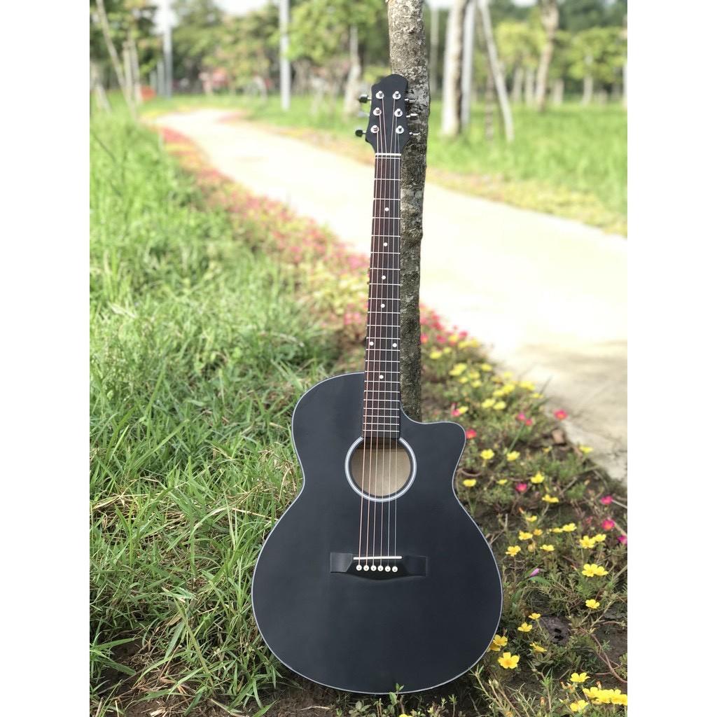 Đàn Guitar Acoustic ST-X1 Full size chất liệu gỗ nhập khẩu (màu đen) có ty chỉnh cần tặng kèm đầy đủ phụ kiện
