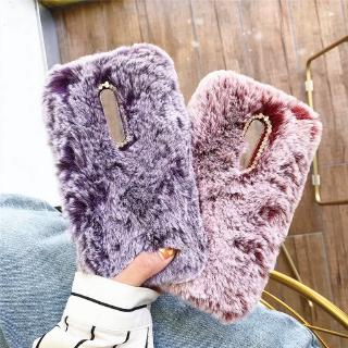 Sony Xperia XZS XZ XZ2 Premium XZ1 XZ2 Compact Cute Fluffy Fur Plush Soft Case Diamond Lens Frame Back Cover Woman Lady