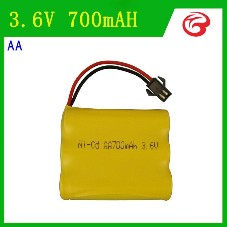 Pin Ni-Cd 3.6V 700mAh cổng SM dành cho xe đồ chơi ô tô điều khiển