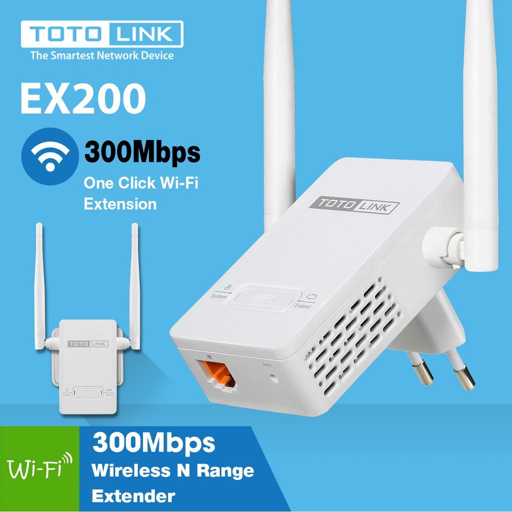 Thiết bị Kích sóng WiFi Repeater TOTOLINK EX200 (Trắng)