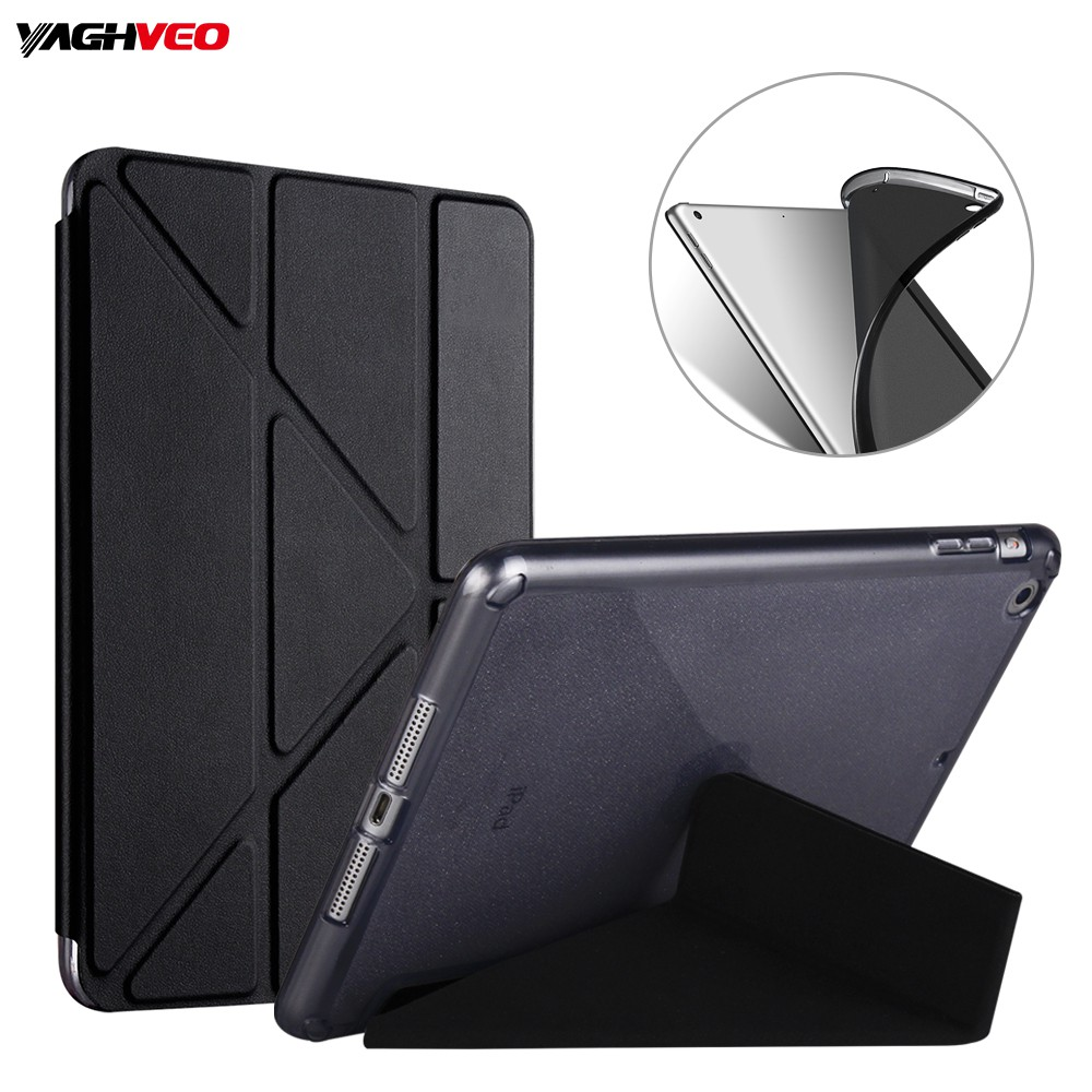 Ốp lưng biến dạng cho iPad 9.7 inch 2018 2017 A1893 A1954 Soft Tablet Cover Clear TPU Silicon Case cho iPad 2017 A1822 A