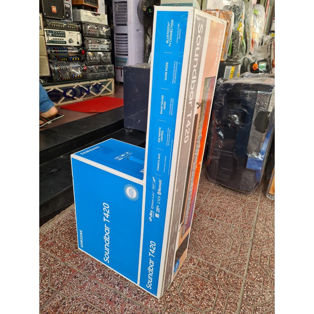 [Hàng Chính Hãng] Loa thanh Soundbar SAMSUNG 2.1 HW-T420 150W Bảo Hành Điện Tử 12 Tháng Toàn Quốc