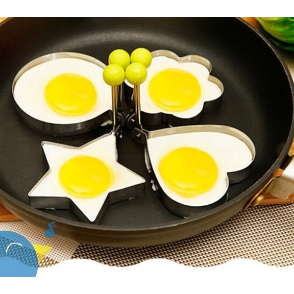 Bộ 4 khuôn chiên trứng tại hình