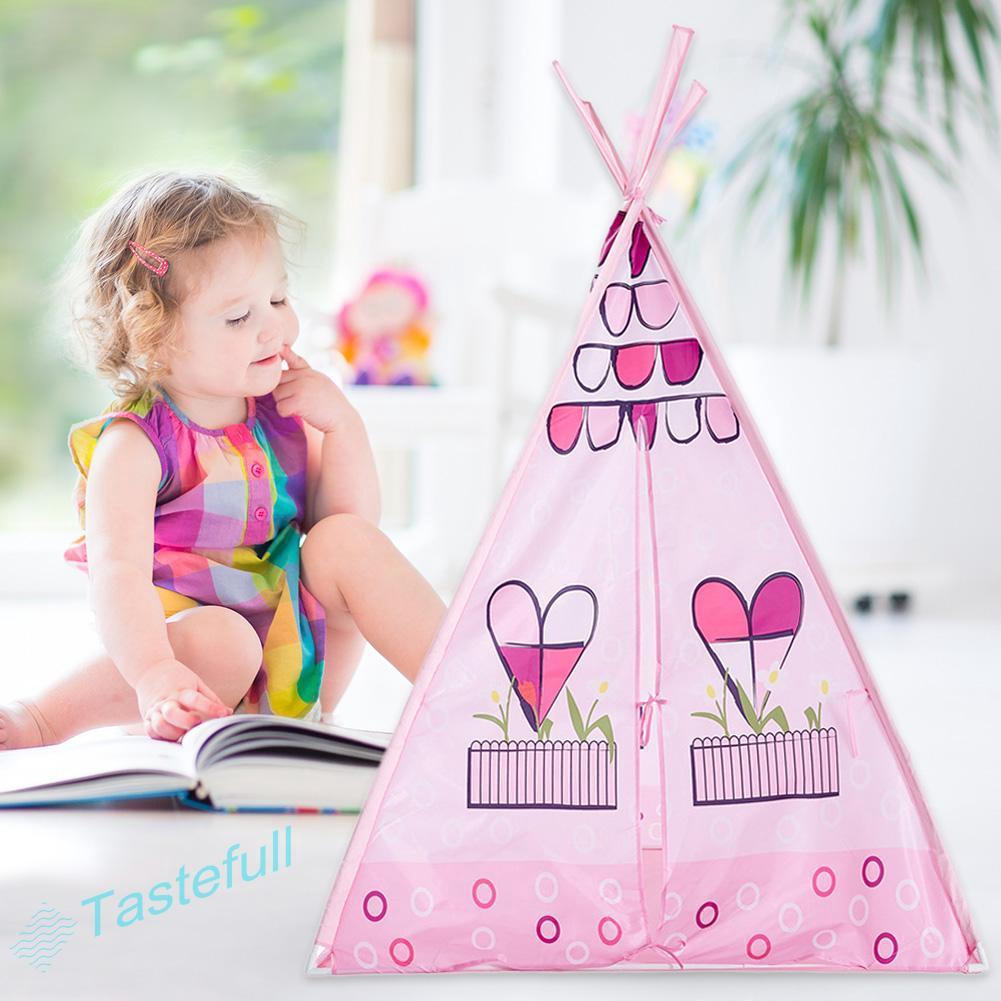 ღfullღChildren Tent Baby Play Dreamy Love House Indoor Outdoor Game Tent Set