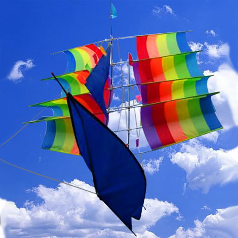 3D Sailboat Style Kite Fashion Large Flying Kite Children Outdoor Toy Kite