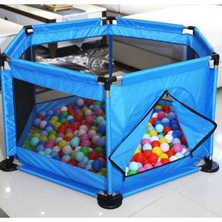 Quây bóng khung inox vải dù cho bé tặng kèm 20 quả bóng