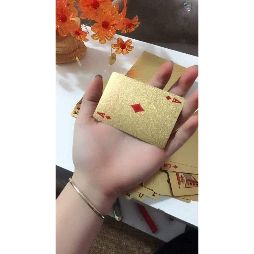 (Sỉ 45k HCM) Bộ 52 lá bài mạ vàng siêu HOT ngày TẾT