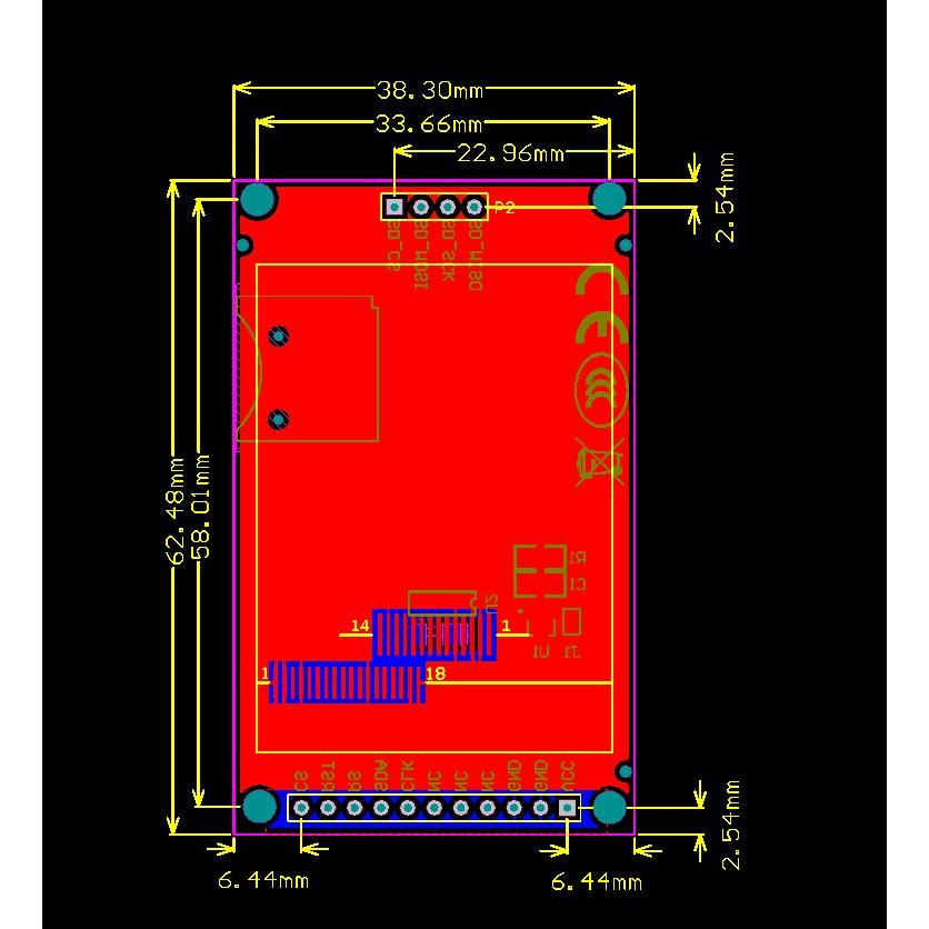 (Mới) Màn hình TFT 2.0 inch giao tiếp SPI